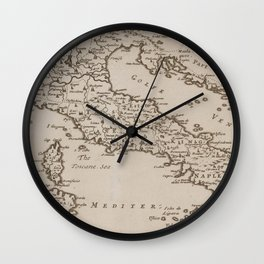 Vintage Map of Italy (1681) Wall Clock