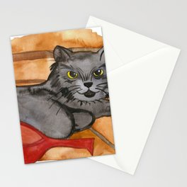 Cat in the Sauna Stationery Cards