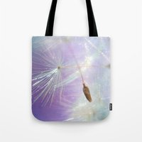 sparkle Tote Bags featuring Sparkle by ALLY COXON