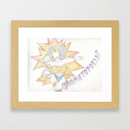 onomatopoeia Framed Art Print