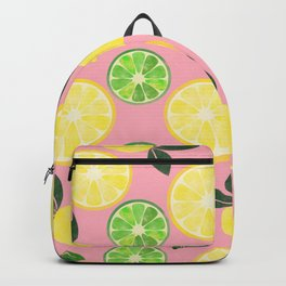 Lemon Lime in Pink Backpack