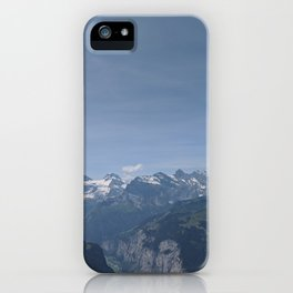 Swiss Mountains iPhone Case