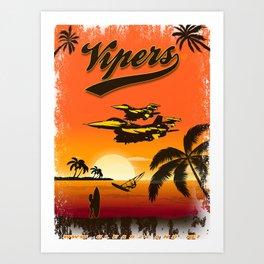 F-16 (Viper) Sunset Art Print