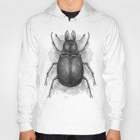 beetle Hoodies featuring Beetle by Salih Gonenli