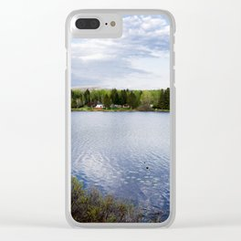 Casa no lago perto de Montreal Clear iPhone Case