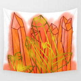Crystals - Orange Wall Tapestry