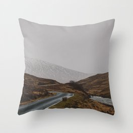 Glen Etive Road Throw Pillow