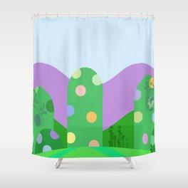 Cute landscape green  Shower Curtain