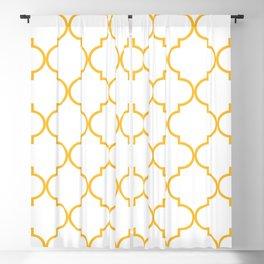 Quatrefoil - Butterscotch yellow Blackout Curtain