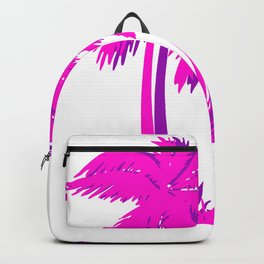 Vaporwave Pink Palm Tree Gift Aesthetic Style Palm beach Backpack