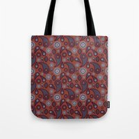 paisley Tote Bags featuring Paisley by Lisi Fkz