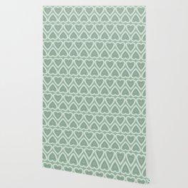 Love Hearts - Pastel Green Wallpaper