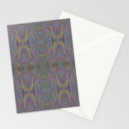 Purple Marble Painting Pattern Stationery Cards