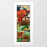 tolkien Art Prints featuring Tolkien´s world! by Cristina Jiménez Burgos