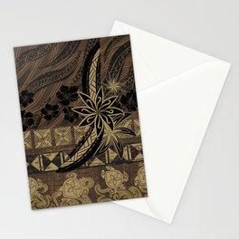 Vintage Samoan Golden Brown Tribal Tiare Stationery Cards