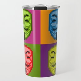 Pop Art Pixel Fawkes Travel Mug