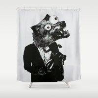 werewolf Shower Curtains featuring Werewolf by slakjawdyokel