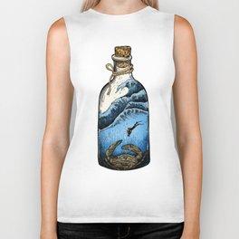 Deep blue bottle Biker Tank