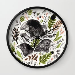 DARWIN FINCHES Wall Clock