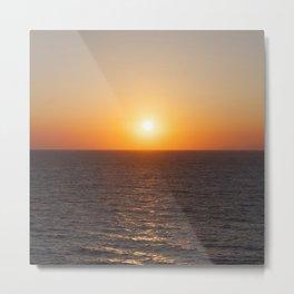 Greek sunset - Greece - Santorini - Sea Metal Print