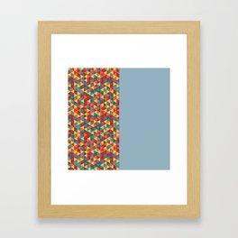 Retro Bicolore Geometric Design Framed Art Print