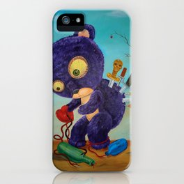 purple spirals downward iPhone Case