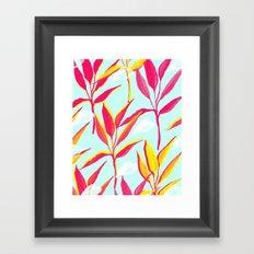 Tropical vibes V2 #society6 Framed Art Print