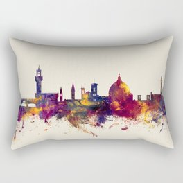 Florence Italy Skyline Rectangular Pillow