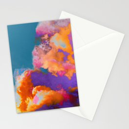 Colorful clouds in the sky Stationery Cards