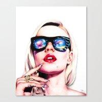 iggy azalea Canvas Prints featuring Iggy Azalea Portrait by Tiffany Taimoorazy