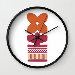 Nordic Orange Flower Wall Clock