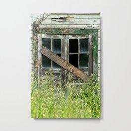 Shuttered Metal Print