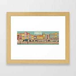 Porto - panoramic Framed Art Print