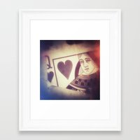 card Framed Art Prints featuring Card by Jean-François Dupuis