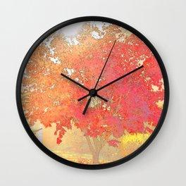 Fiery Wall Clock