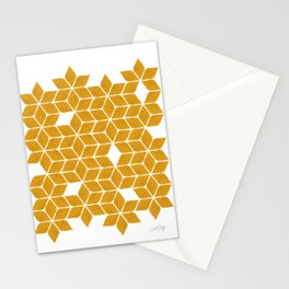 Poinsettia Stars – Marigold Palette Stationery Cards