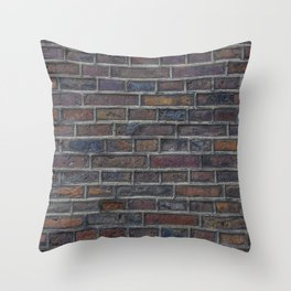 Texture, Stone, Wall, Background, Stones, Stone Wall. Beautiful city photo. Urban art. Vintage style. Illustration. Throw Pillow