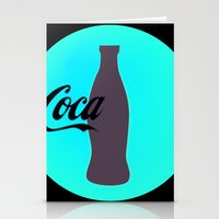 coca cola Stationery Cards featuring Coca cola by Mary Stephenson