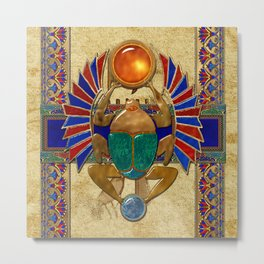 Sarcophagus 3d Egyptian Folk Art Metal Print
