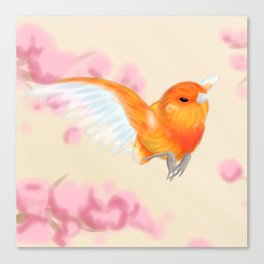 Red Canary Canvas Print