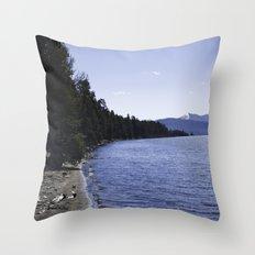 Lake Yellowstone Throw Pillow