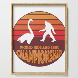 Nessie vs Sasquatch Bigfoot World Hide and Seek Championship Serving Tray