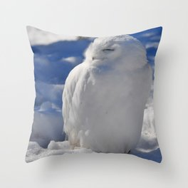 Snowy in the Snow by Teresa Thompson Throw Pillow