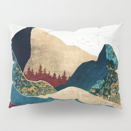 Malachite Mountains Pillow Sham
