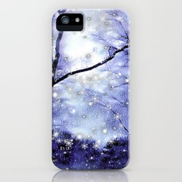 The Magic Of Winter Evening iPhone Case