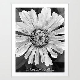 in beauty i walk... Art Print