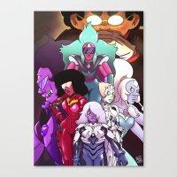 neon genesis evangelion Canvas Prints featuring Neon Gem Evangelion by AMC Art
