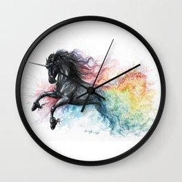 Unicorn dissolving Wall Clock
