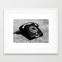 telephone Framed Art Prints featuring telephone by Falko Follert Art-FF77