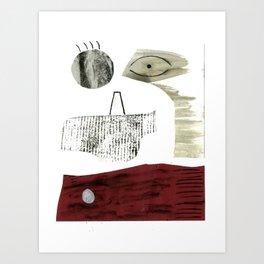 Abstract face 2. Art Print